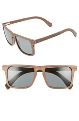 Shwood Govy 2 52Mm Polarized Wood Sunglasses Walnut Grey Walnut Grey