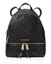 Michael Michael Kors Rhea Medium Lace Zip Backpack Black Gold