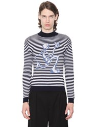 J.W.Anderson Merino Striped Sweater W Mercury Man