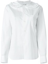 Comme Des Garcons Girl Peter Pan Collar Blouse White