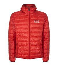 Armani Ea7 Hooded Quilted Technical Jacket Male Red
