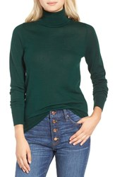 J.Crew Women's Featherweight Cashmere Turtleneck Pine Forest