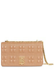 Burberry Sm Lola Quilted Leather Bag Camel