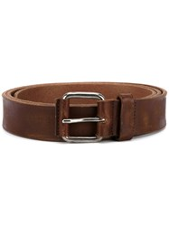 Dries Van Noten Distressed Belt Brown