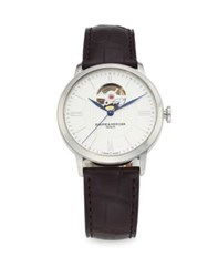 Baume And Mercier Classima 10274 Automatic Stainless Steel Alligator Strap Watch Black