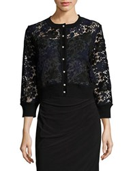 Karl Lagerfeld Lace Button Front Cardigan Vogue 125 Rose Collection