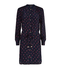 Juicy Couture Pop Heart Silk Shirt Dress Female
