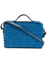 Tod's Studded Shoulder Bag Blue