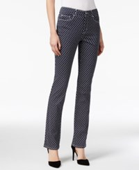Charter Club Lexington Straight Leg Jeans Iconic Print
