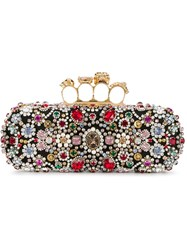 Alexander Mcqueen Knuckle Long Box Clutch Black