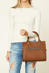 Forever 21 Faux Leather Zipper Satchel