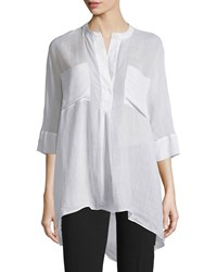 Joseph Heather 3 4 Sleeve Cotton Blouse White