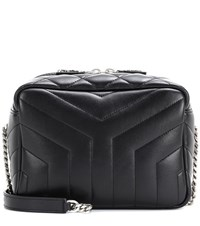 Saint Laurent Classic Small Loulou Monogram Shoulder Bag Black