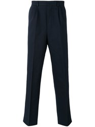 Ami Alexandre Mattiussi Loose Fit Tailored Trousers Blue