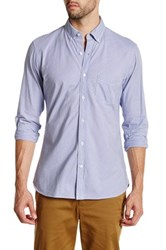 Lands' End Stripe Poplin Shirt Blue