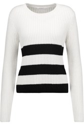 Equipment Carson Intarsia Knit Wool And Alpaca Blend Sweater Ivory