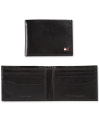 Tommy Hilfiger Aaron Slim Billfold Wallet With Gift Box Black