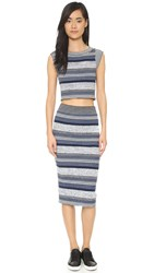 Free People Letters To My Lover 2 Piece Dress Grey Combo