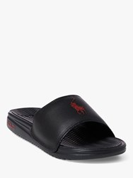 Ralph Lauren Polo Pool Sliders Black