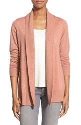 Women's Eileen Fisher Cashmere Shawl Collar Cardigan Toffee Cream