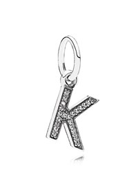 Pandora Design Pandora Pendant Sterling Silver And Cubic Zirconia Letter K Moments Collection Silver Clear