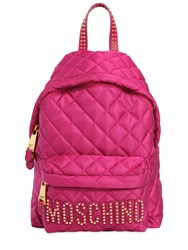 Moschino Medium Studded Quilted Nylon Backpack