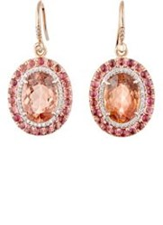 Irene Neuwirth Diamond Collection Women's Mixed Gemstone Drop Earrings Colorless
