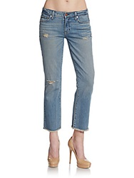 Textile Elizabeth And James Grace Distressed Cropped Jeans Torn