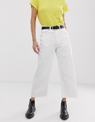 Cheap Monday Ally Cropped Wide Leg Jeans White