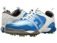 Footjoy Freestyle Cleated Saddle Boa White Electric Blue Golf Shoes