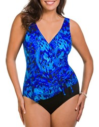 Longitude Deep End One Piece Swimsuit Blue