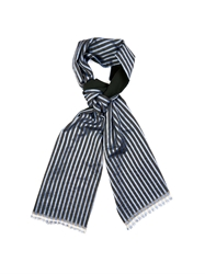 Haider Ackermann Striped Wool And Silk Blend Scarf