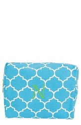 Cathy's Concepts Monogram Cosmetics Case Blue N