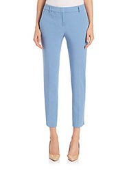 Peserico Four Way Stretch Cotton Pants Blue