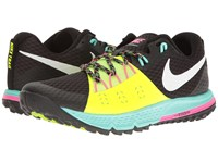Nike Air Zoom Wildhorse 4 Black White Volt Hyper Turquoise Men's Running Shoes Multi