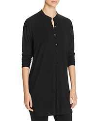 Eileen Fisher Petites Mandarin Collar Tunic Black