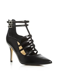 Ivanka Trump Domin Caged Pointed Toe Pumps Black