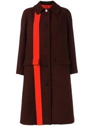 Paul Smith 'Damson' Dogtooth Coat Red