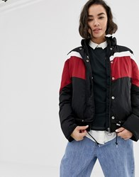 Lee Sporty Striped Windbreaker Jacket Pitch Black