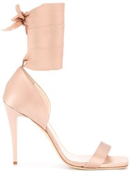 Lanvin Wrapped Ankle Sandals Pink And Purple