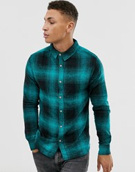 Soul Star Fitted Check Shirt Green