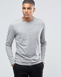 Selected Homme Grandad Long Sleeve Top Light Grey