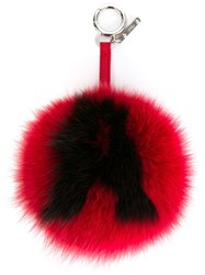 Fendi A Bag Charm Red