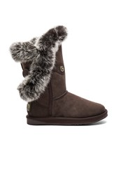 Australia Luxe Collective Nordic Angel Short Rabbit Fur And Shearling Boot Brown