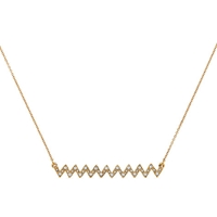 Cachet London Gold Plated Zigzag Necklace Gold