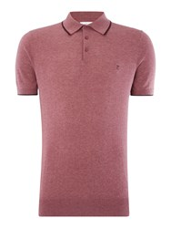 Peter Werth Bernwell Short Sleeved Cotton Polo Shirt Pink