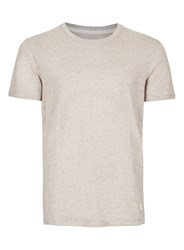 Selected Brown Homme Oat T Shirt
