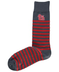 For Bare Feet St. Louis Cardinals Thin Stripes Socks Charcoal Red