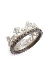 Armenta Women's Old World Half Crown Diamond Ring