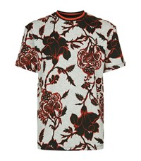 Mcq By Alexander Mcqueen Gothic Floral T Shirt Male Grey